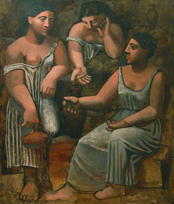Картина Пабло Пикассо. Три женщины у источника. 1921