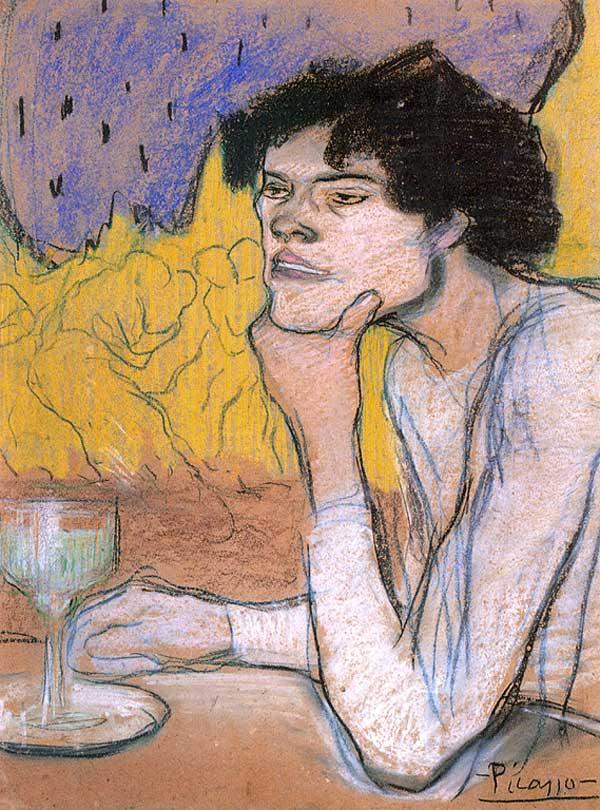 Картина Пабло Пикассо. Абсент. 1901