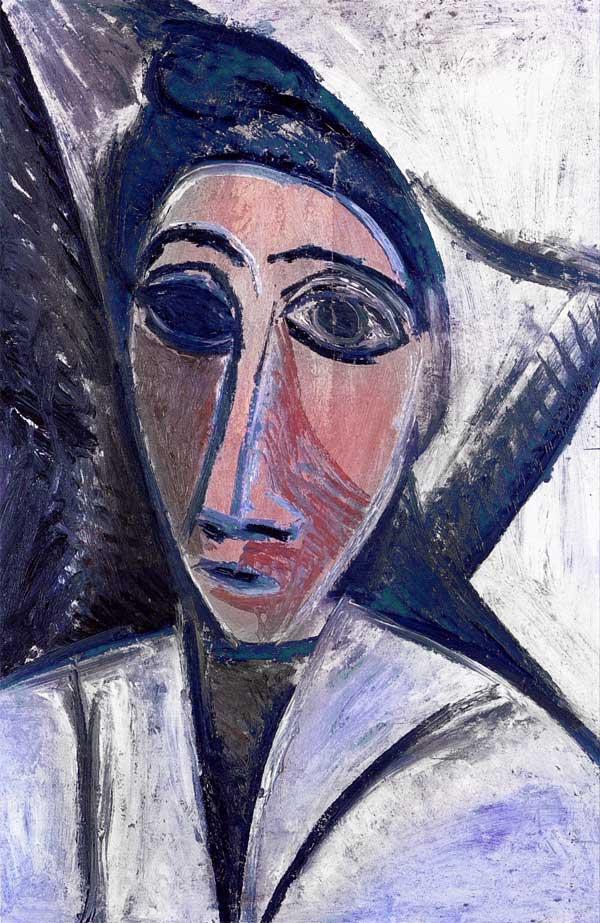 Картина Пабло Пикассо. Женский бюст, или Морячка (Этюд к Авиньонским девицам). 1907