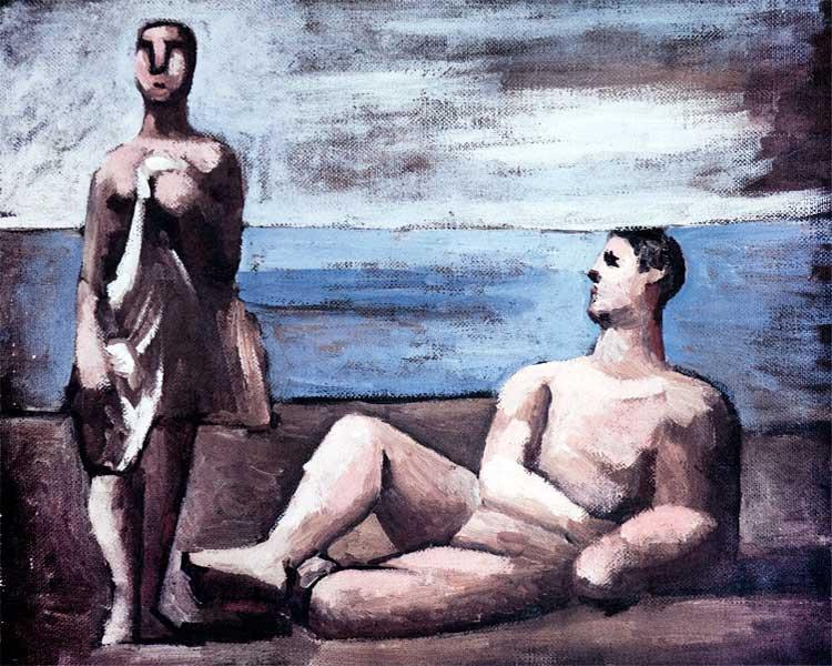 Картина Пабло Пикассо. Два купальщика. 1921