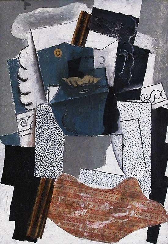 Картина Пабло Пикассо. Мужчина с усами. 1914