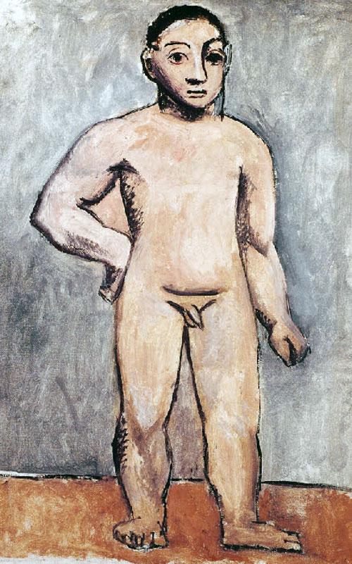 Картина Пабло Пикассо. Обнаженный мальчик. 1906