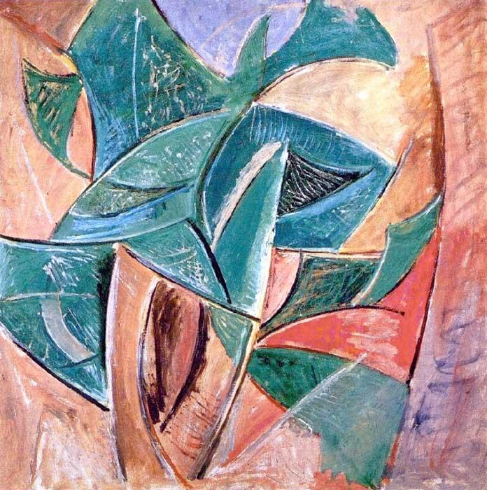Картина Пабло Пикассо. Дерево. 1907