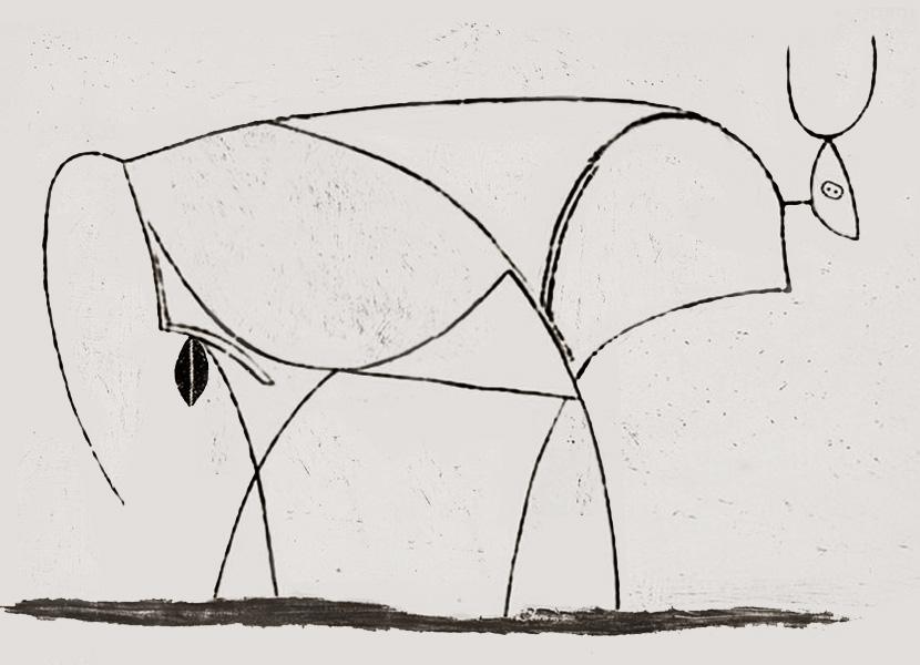 Картина Пабло Пикассо. Бык. Стадия 10. 1946, 10 января