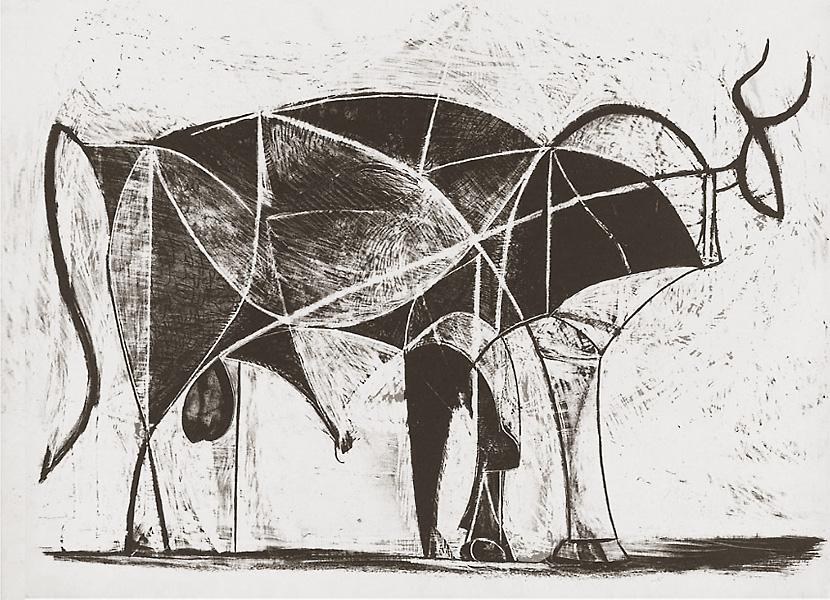 Картина Пабло Пикассо. Бык. Стадия 6. 1945, 26 декабря