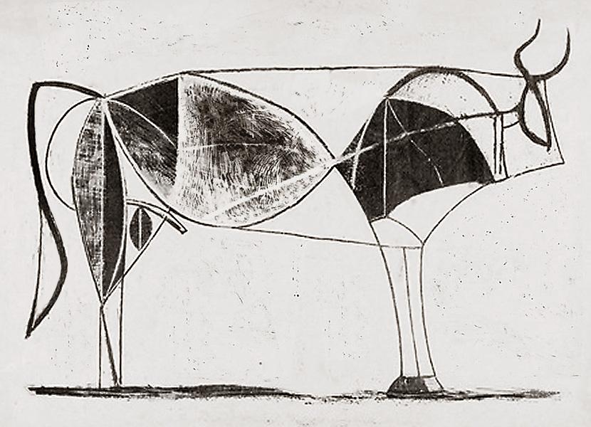 Картина Пабло Пикассо. Бык. Стадия 7. 1945, 28 декабря