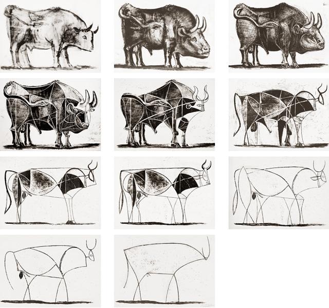 Картина Пабло Пикассо. Бык. Серия литографий. 1945-1946