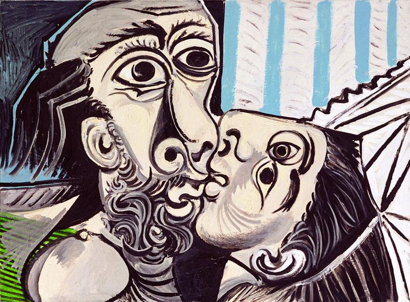 Картина Пабло Пикассо. Поцелуй. 1969