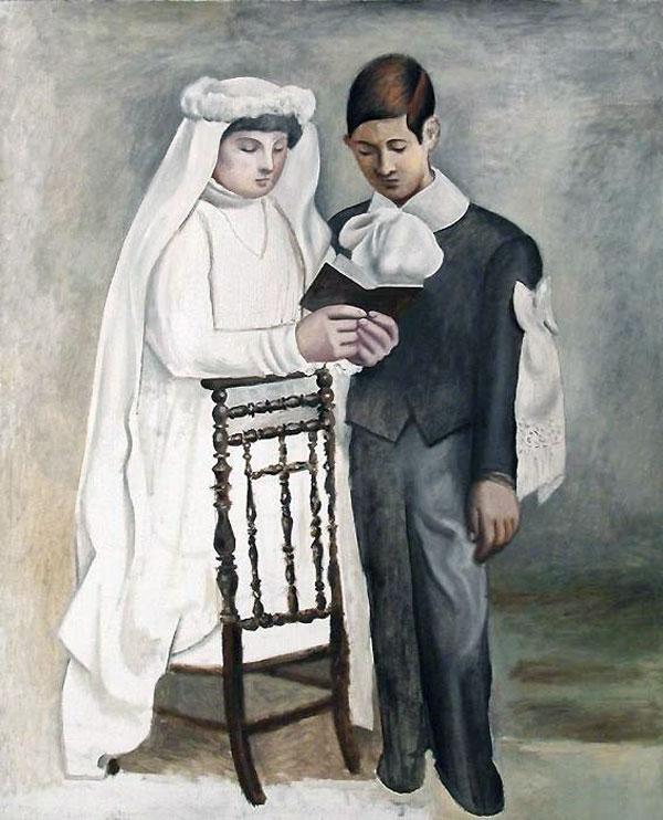 Картина Пабло Пикассо. Первое причастие. 1919