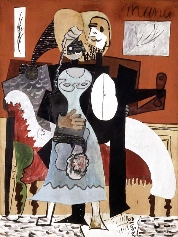Картина Пабло Пикассо. Любовники. 1919