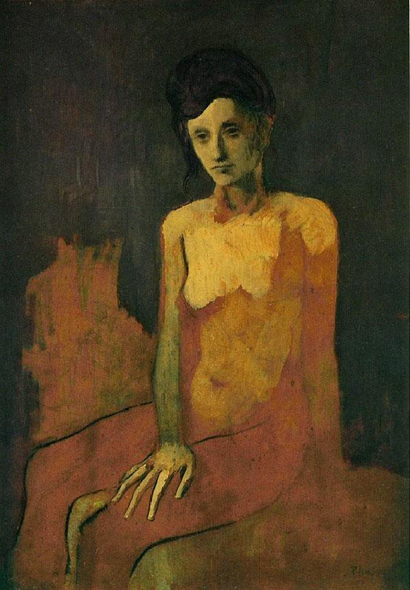 Картина Пабло Пикассо. Сидящая обнаженная. 1905