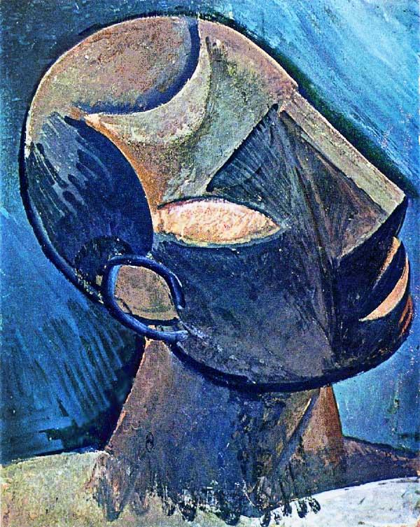 Картина Пабло Пикассо. Голова человека. 1908