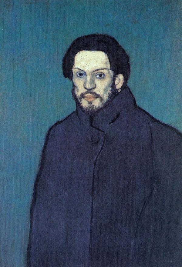 Автопортрет Пикассо 1901 голубой период