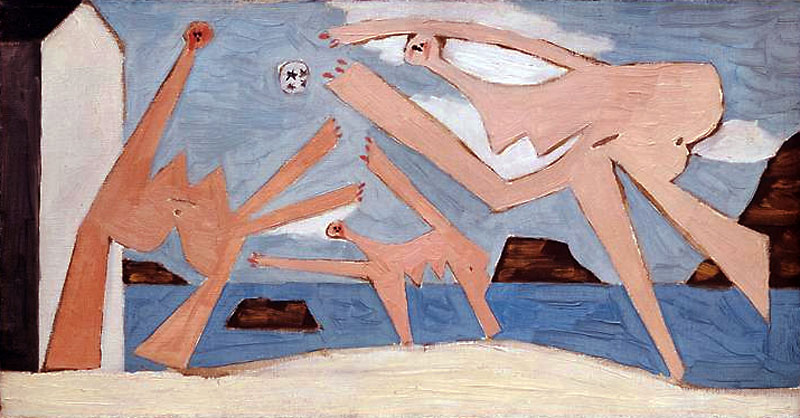Pablo Picasso, Bathers playing with ball, 1928