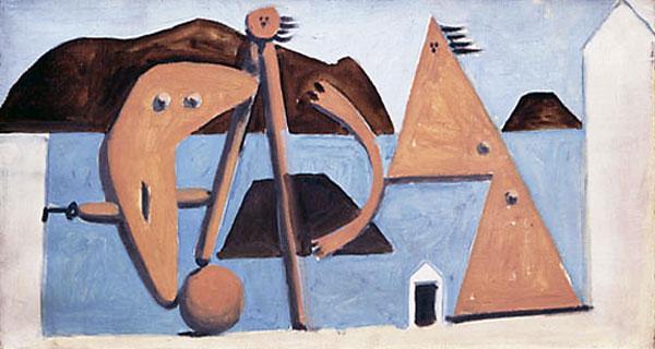 Картина Пабло Пикассо. Купальщицы на пляже. 1928