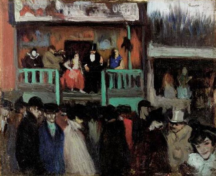 Картина Пабло Пикассо. Ярмарочная площадь. 1900