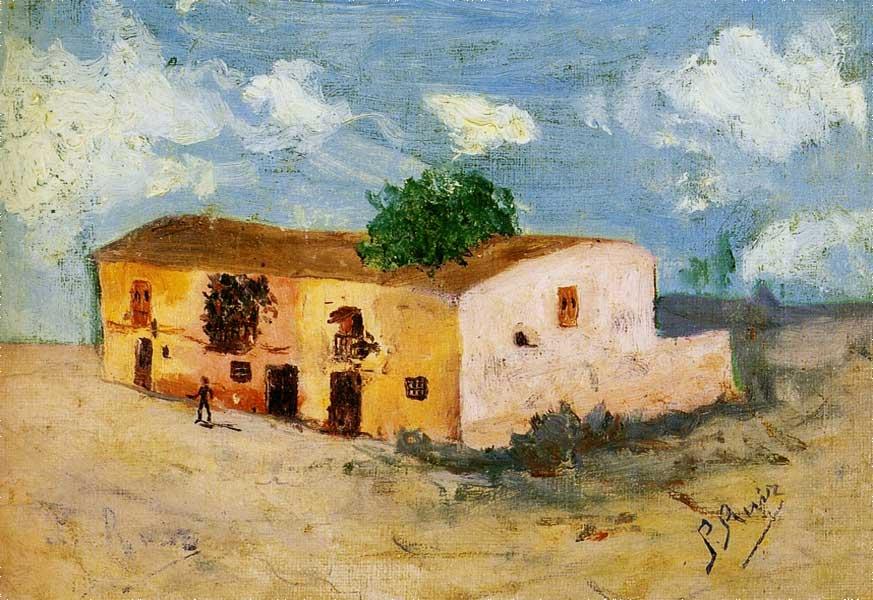 Картина Пабло Пикассо. Дом в деревне. 1893
