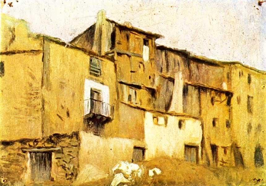 Картина Пабло Пикассо. Дома в Хорта де Эбро. 1898
