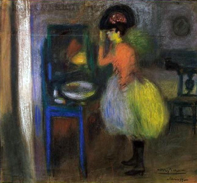 Картина Пабло Пикассо. В раздевалке. 1900