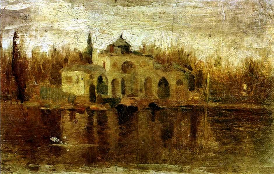 Картина Пабло Пикассо. Пруд Эль Ретиро. 1897
