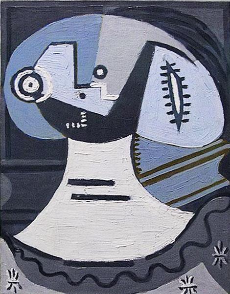 Картина Пабло Пикассо. Женщина с воротником. 1926