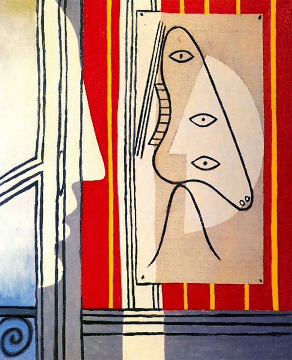 Картина Пабло Пикассо. Рисунок и профиль. 1928