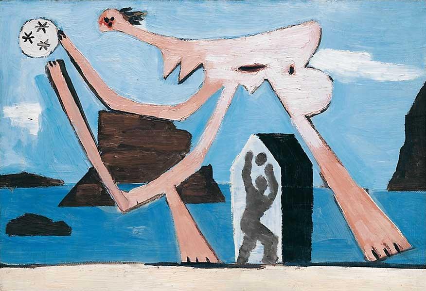 Картина Пабло Пикассо. Купальщицы с мячом на пляже. 1928