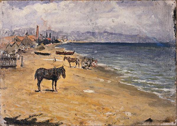 Картина Пабло Пикассо. Ла Барселонета. 1896