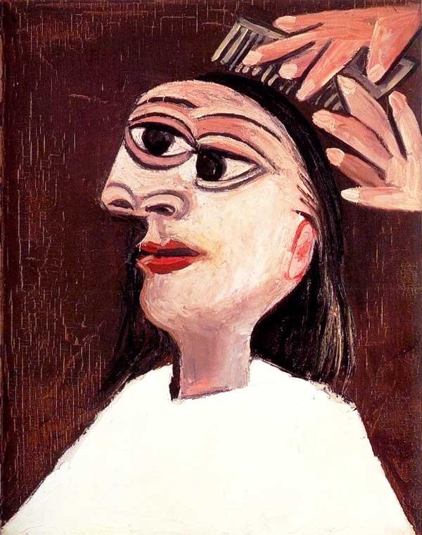 Картина Пабло Пикассо. Причесывание. 1938