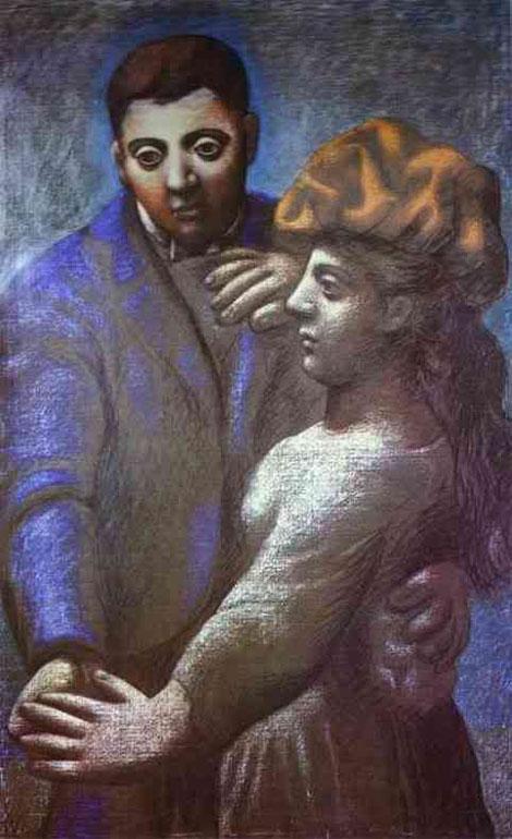 Картина Пабло Пикассо. Деревенский танец. 1922