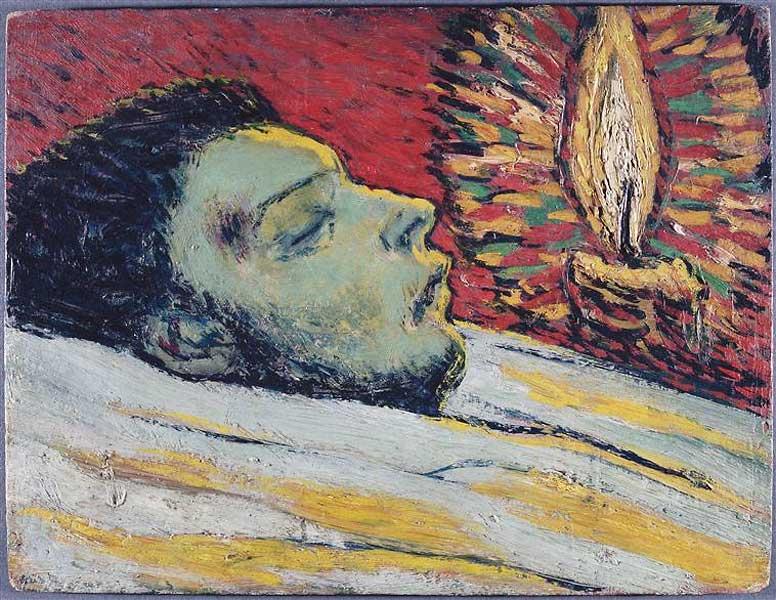 Картина Пабло Пикассо. Смерть Касагемаса. 1901