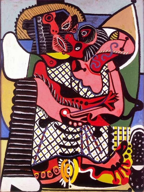 Картина Пабло Пикассо. Поцелуй. 1925