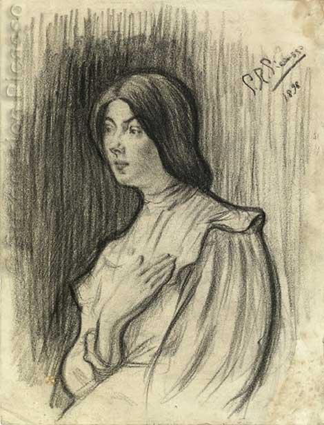 Картина Пабло Пикассо. Лола, сестра художника. 1898