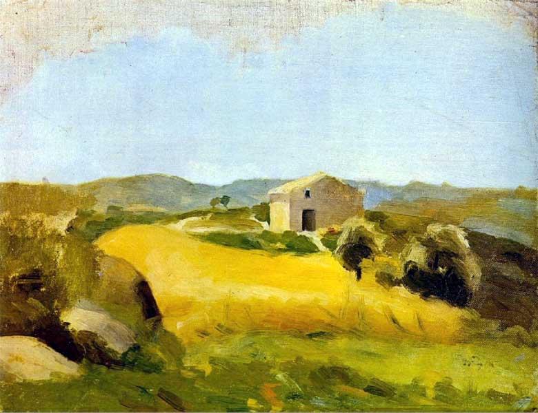 Картина Пабло Пикассо. Сельский пейзаж. 1898