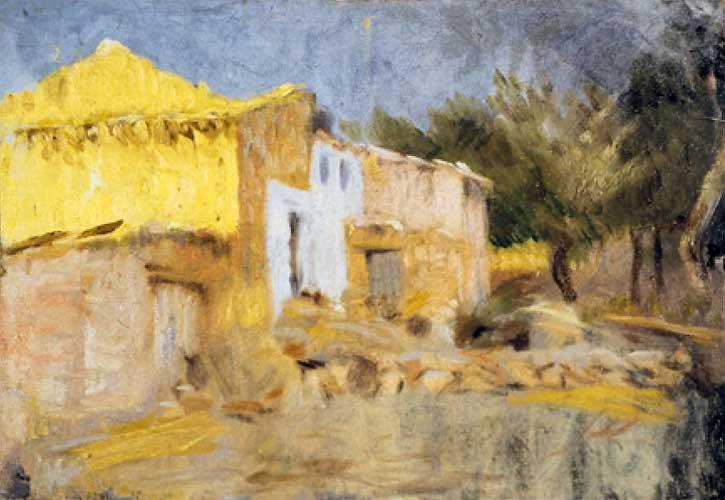 Картина Пабло Пикассо. Сельский дом. 1898