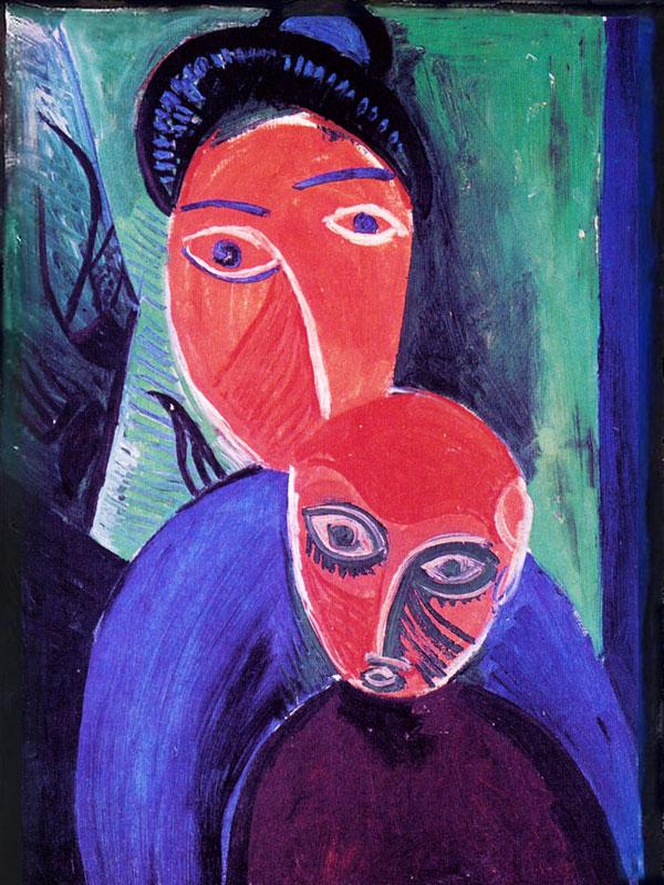 Картина Пабло Пикассо. Мать и дитя. 1907