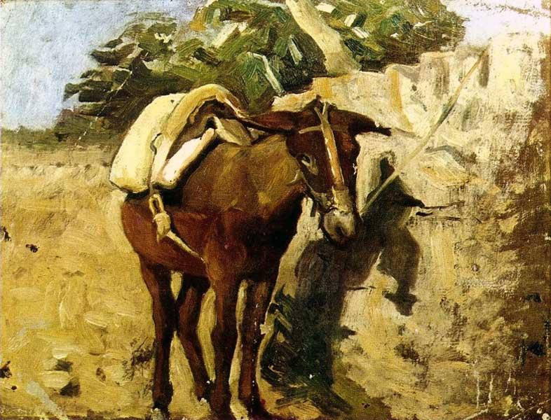 Картина Пабло Пикассо. Мул. 1898