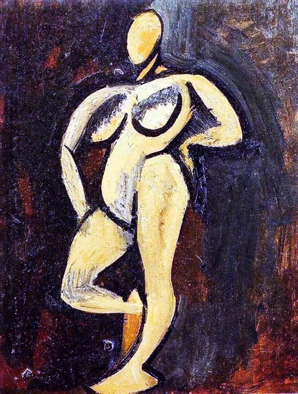 Картина Пабло Пикассо. Стоящая обнаженная. 1908