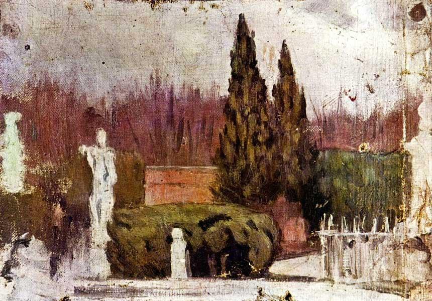 Картина Пабло Пикассо. Парк. 1897