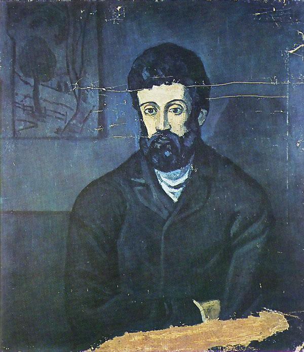 Картина Пабло Пикассо. Мужской портрет. 1902-1903
