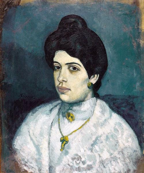 Картина Пабло Пикассо. Портрет Корины Пере Ромю. 1902