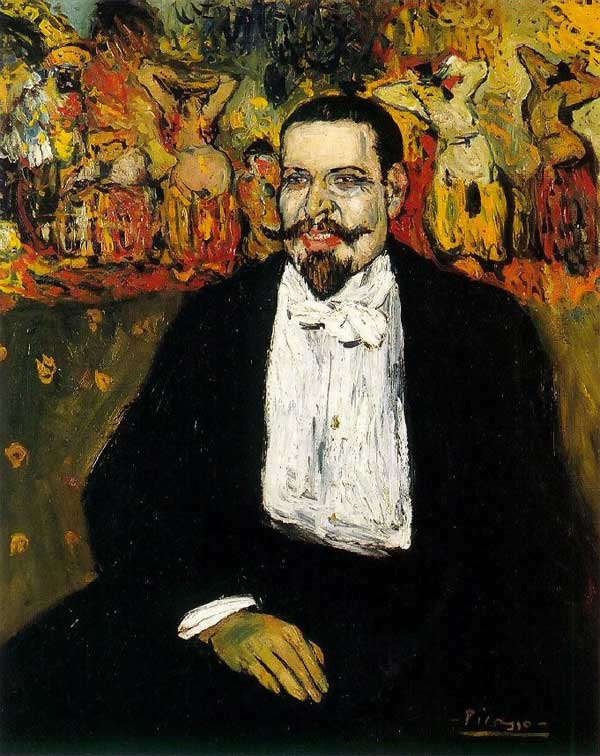 Картина Пабло Пикассо. Портрет Гюстава Коко. 1901