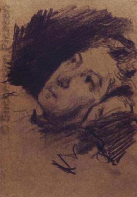 Картина Пабло Пикассо. Портрет Марии Пикассо Лопес, матери художника. 1894
