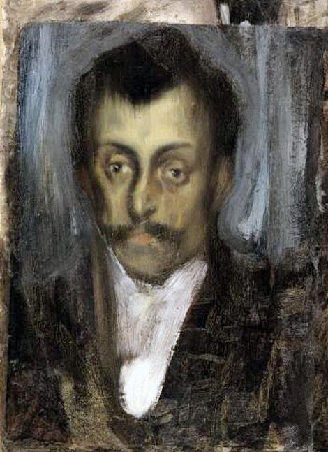Картина Пабло Пикассо. Портрет незнакомца. 1899