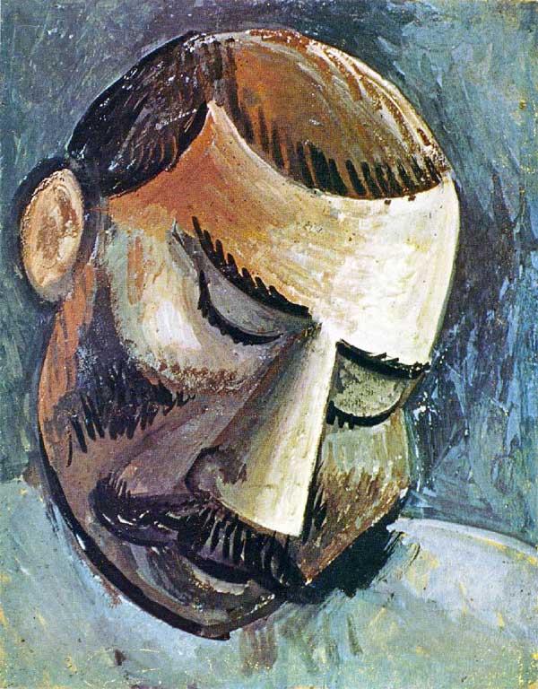 Картина Пабло Пикассо. Голова человека 2. 1908