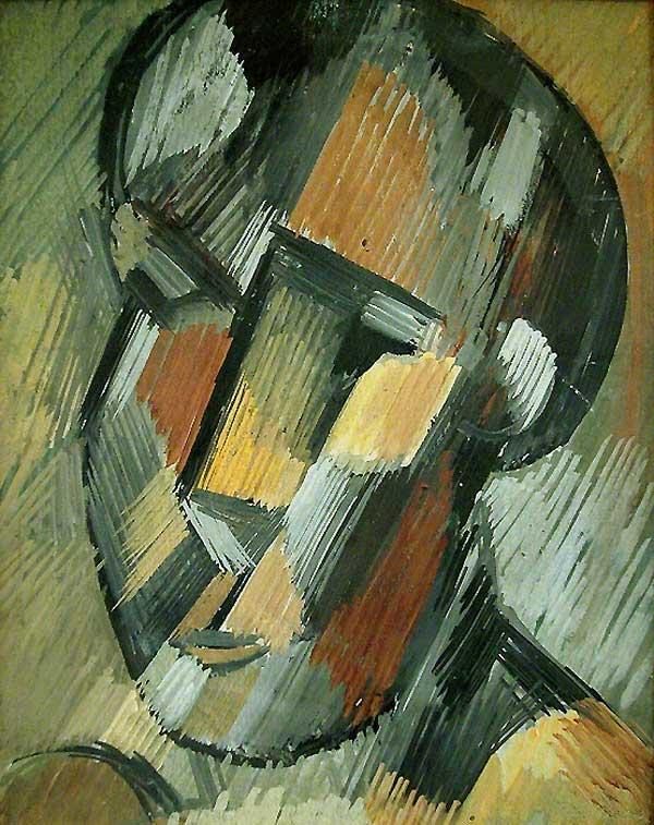Картина Пабло Пикассо. Голова человека. 1909