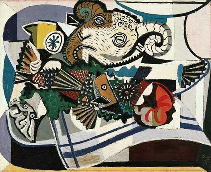 Картина Пабло Пикассо. Голова барана. 1925