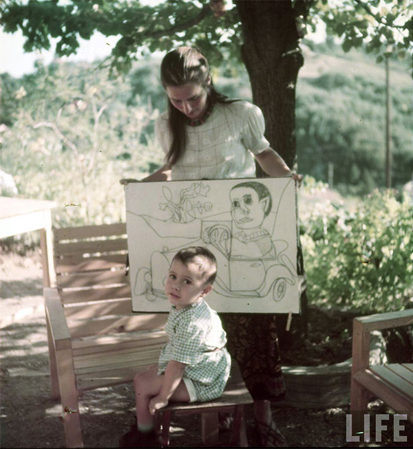 Франсуаза Жило и Клод Пикассо, Валлорис, 1949. Гийон Мили, Фото 2