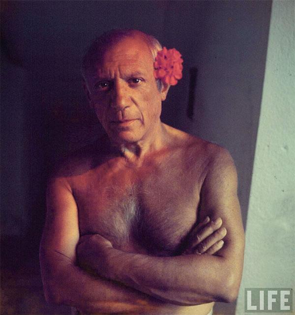 Пабло Пикассо дома. Валлорис, 1949. Гийон Мили, фото 1