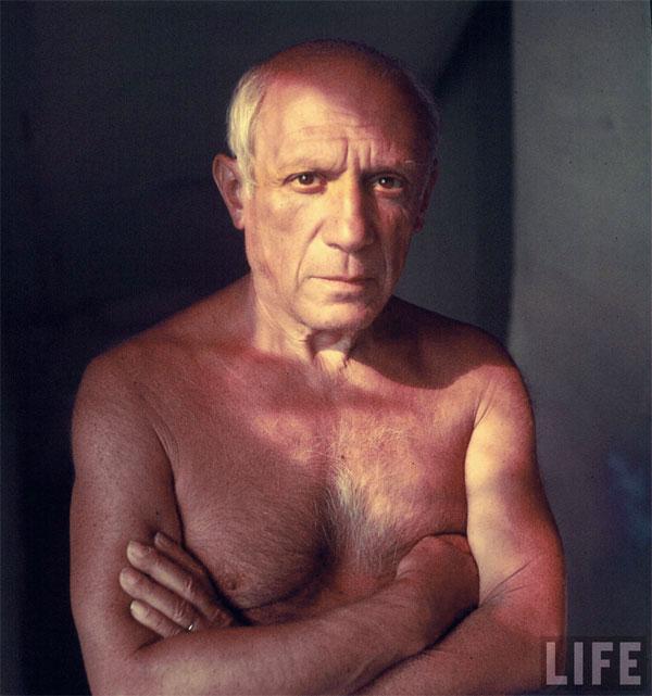 Пабло Пикассо дома. Валлорис, 1949. Гийон Мили, фото 2